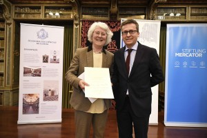 Dame Helen Wallace and Commissioner Carlos Moedas