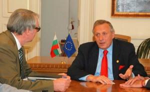 ALLEA President Günter Stock (left) with BAS President Stefan Vodenicharov (right)