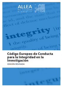 Código Europeo de Conducta para la Integridad en la Investigación
