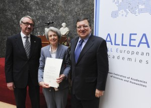 President of the European Commission José Manuel Barroso awards All European Academies Madame de Staël Prize for Cultural Values to Italian Professor of Cultural History