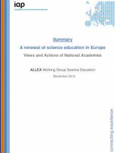 WGSE renewal of science education summary