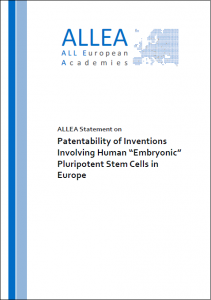 New statement on the patentability of inventions involving human embryonic stem cells in Europe