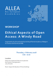 Ethical Aspects of Open Access Workshop: A Windy Road