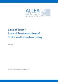ALLEA publishes Discussion Paper on Loss of Trust in Science and Expertise