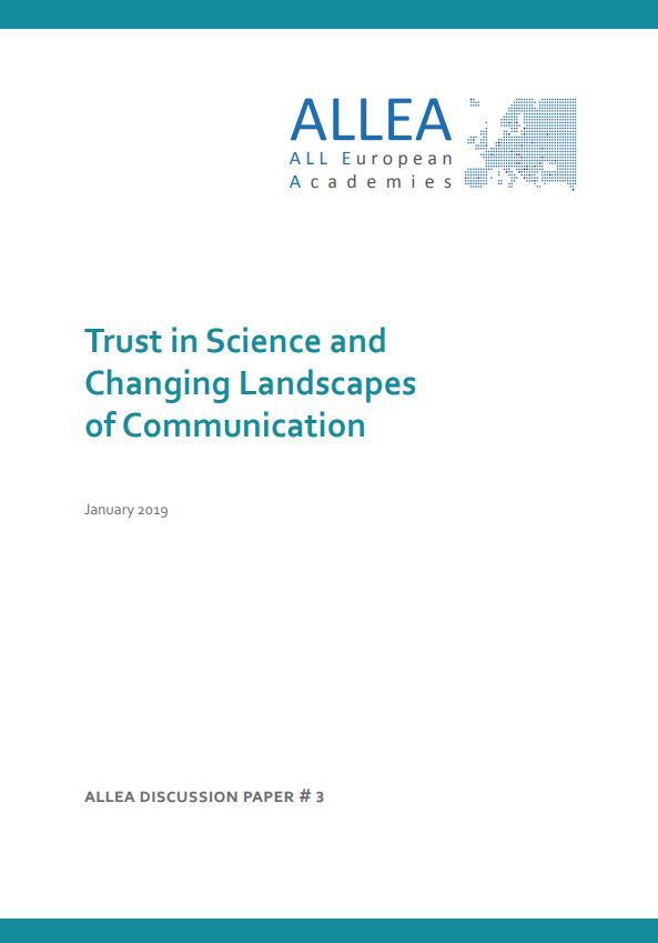 Trust in Science in a Digital World: New Mechanisms Needed